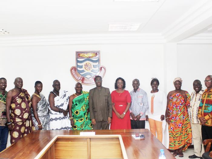 delegation from Denkyira traditional council calls on vice-chancellor
