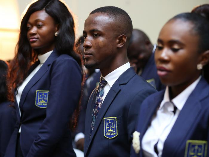 faculty of law inducts first year students cross section of students